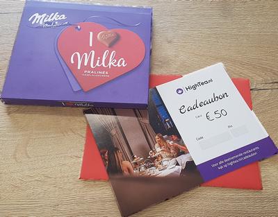 Cadeaubon met Milka chocola