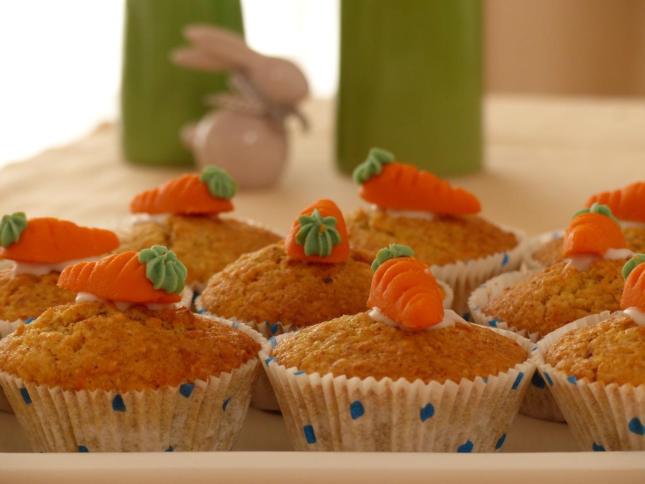 Carrot cakes pasen