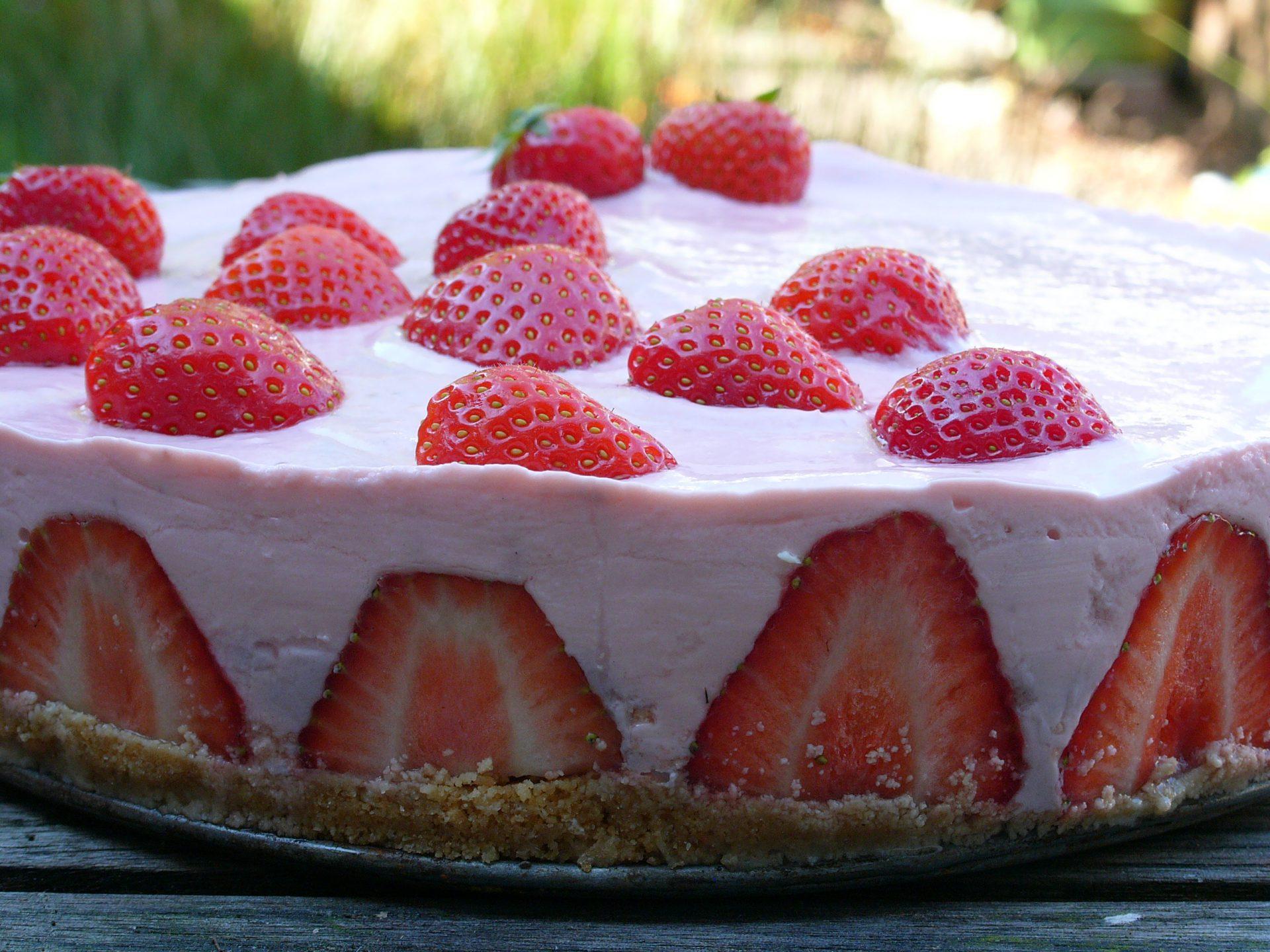 Moederdag aardbeien kwarktaart