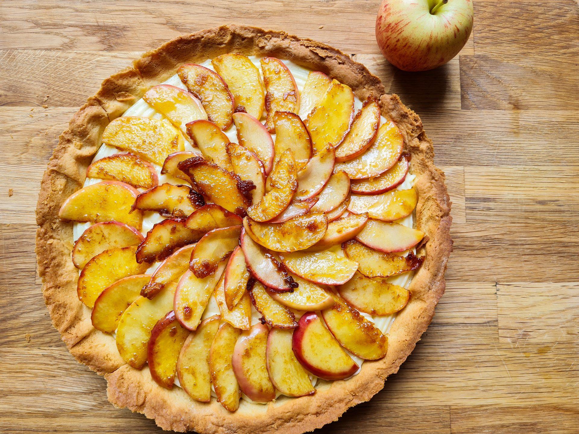 appeltaart met banketbakkersroom
